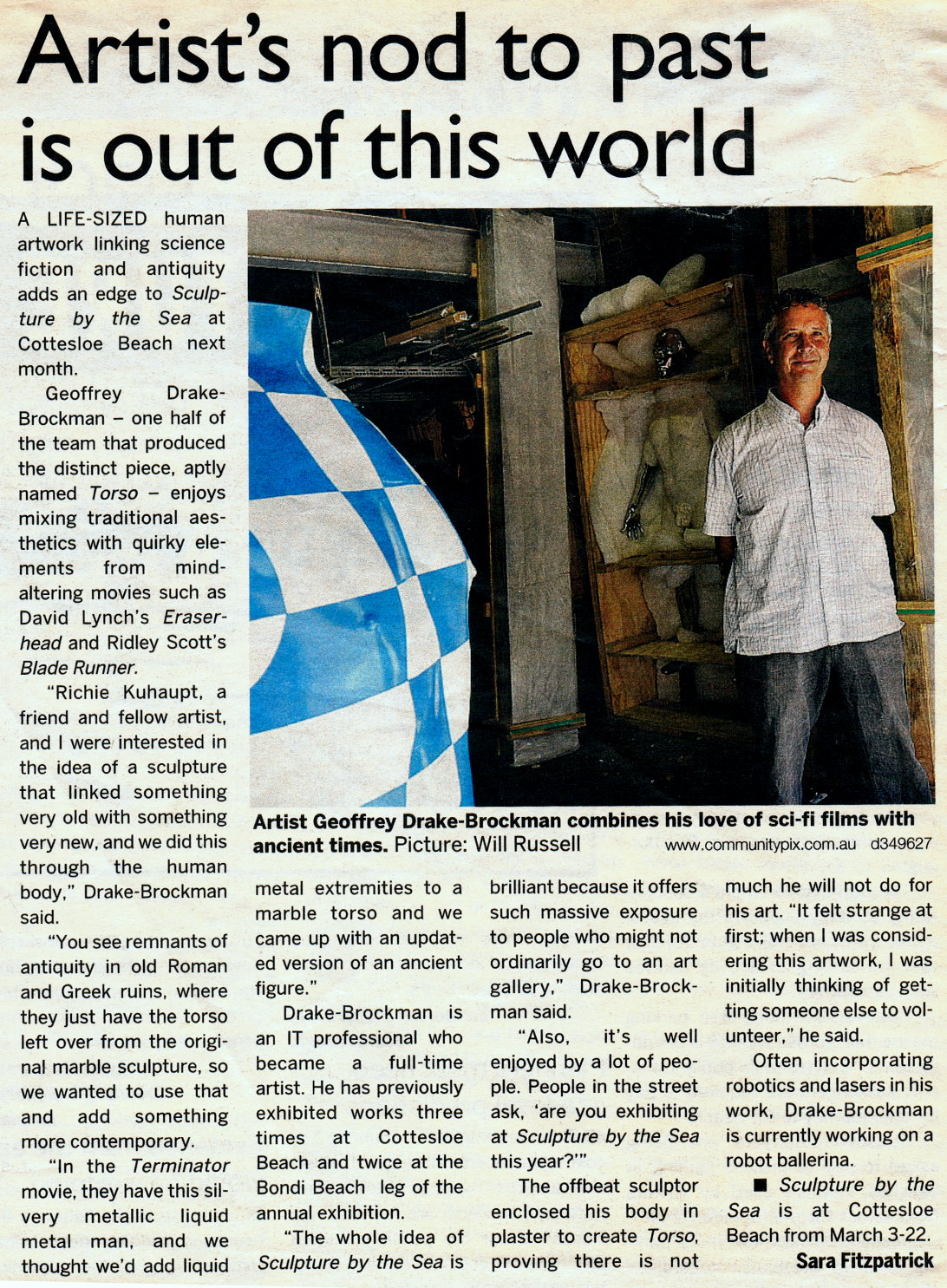 Western Suburbs Article re Torso